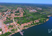 Imagem aérea da cidade de São Sebastião do Tocantins, no Bico do Papagaio